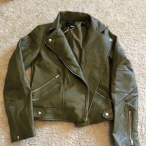 Green Zara jacket
